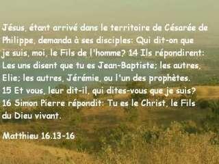 Matthieu 16.13-16
