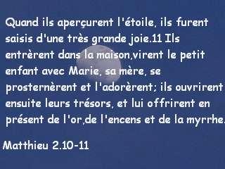 Matthieu 2.10-11