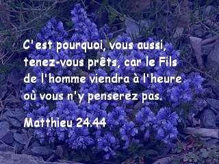 Matthieu 24.44