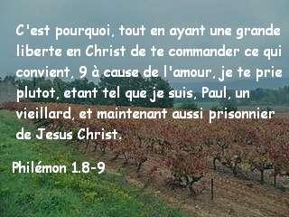 Philémon 1.8-9