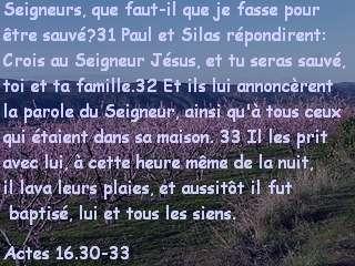 Actes 16.30-33