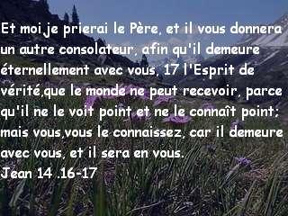 Jean 14 .16-17