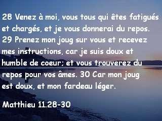 Matthieu 11.28-30