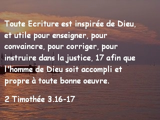 2 Timothée 3.16-17.1