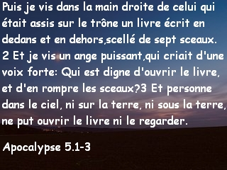 Apocalypse 5.1-3