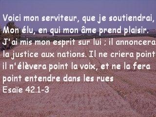 Esaïe 42.1-3
