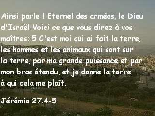 jérémie 27.4-5