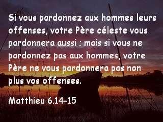 matthieu 6.14-15