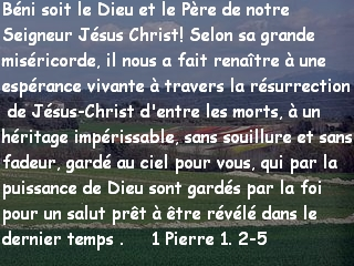 1 Pierre 1. 2-5