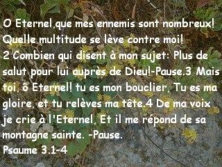 Psaume 3.1-4