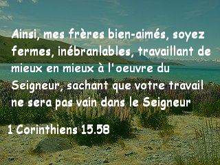 1 Corinthiens 15.58