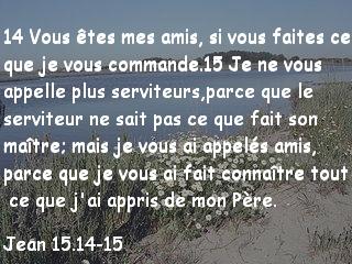 Jean 15.14-15