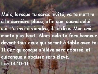 Luc 14.10-11