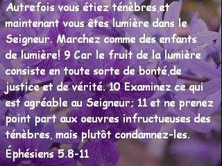 Éphésiens 5.8-11
