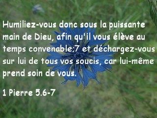 1 Pierre 5.6-7