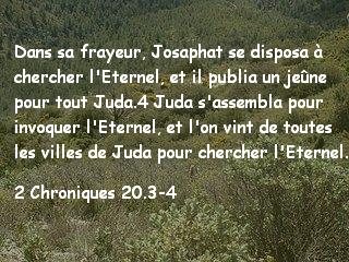 2 Chroniques 20.3-4