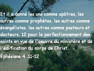 Éphésiens 4 .11-12