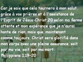 Philippiens 1.19-20