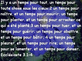 Ecclésiaste 3.1-4