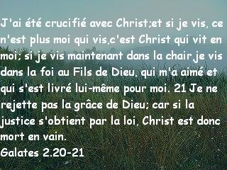 Galates 2.20-21