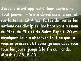 Matthieu 28.18-20