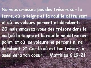 Matthieu 6.19-21