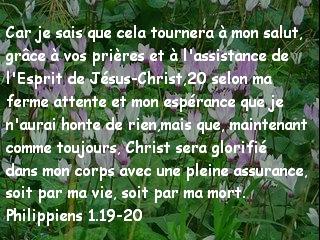 Philippiens 1.19-20.