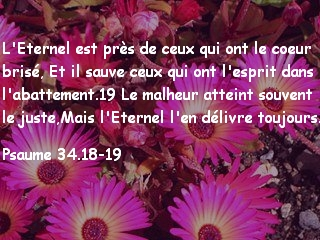 Psaume 34.18-19
