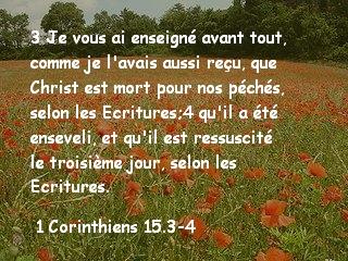 1 Corinthiens 15.3-4