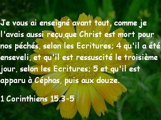 1 Corinthiens 15.3-5