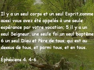 Éphésiens 4. 4-6