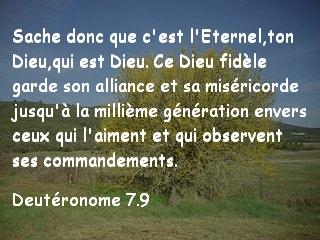 Deutéronome 7.9
