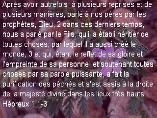 Hébreux 1.1-3