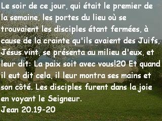 Jean 20.19-20
