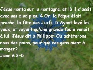 Jean 6.3-5