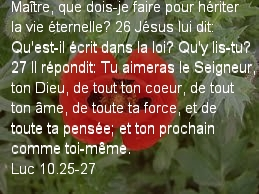 Luc 10.25-27