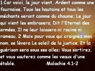 Malachie 4.1-2
