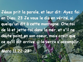Marc 11.22-23
