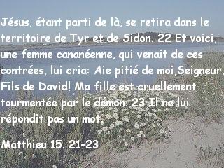 Matthieu 15. 21-23