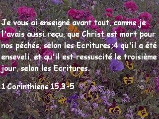 1 Corinthiens 15.3-5.