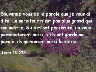 Jean 15.20.