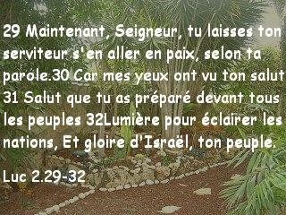 Luc 2.29-32.