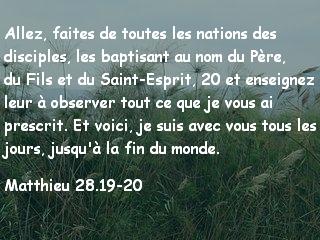 Matthieu 28.19-20