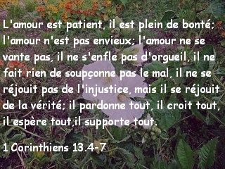 1 Corinthiens 13.4-7