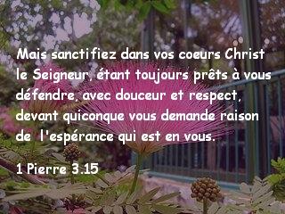 1 Pierre 3.15.