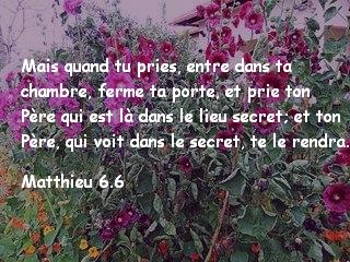 Matthieu 6.6.
