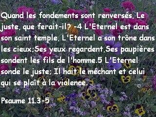Psaume 11.3-5