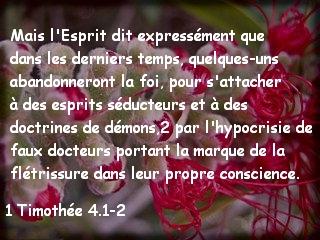 1 Timothée 4.1-2