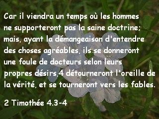 2 Timothée 4.3-4