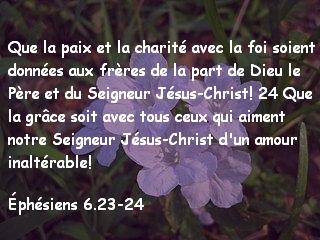 Éphésiens 6.23-24